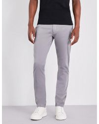 Armani Jeans. Men's Gray Slim-fit Tapered Stretch-cotton Chinos