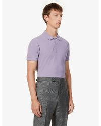 Tom Ford Purple Short-sleeved Cotton-piqué Polo Shirt for men