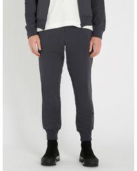 Y-3 Gray Logo-print Cotton-jersey jogging Bottoms for men