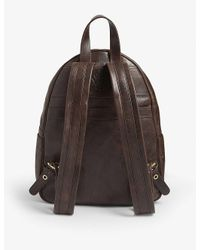 Eleventy Brown Leather Backpack