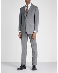 Gieves & Hawkes Gray Regular-fit Wool-blend Three-piece Suit for men