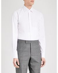 Thomas Pink White Arthur Slim-fit Cotton-twill Shirt for men