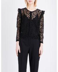 Claudie Pierlot - Black Calling Lace Shirt - Lyst