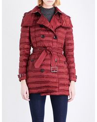 Burberry Red Chesterford Quilted Shell Coat