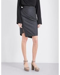 Vivienne Westwood Anglomania Gray High-rise Wool Skirt