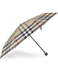 Burberry - Multicolor Mens Traditional Trafalgar Check Print Umbrella - Lyst