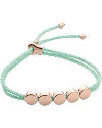 Monica Vinader Black Linear Bead 18ct Rose-gold Plated Friendship Bracelet