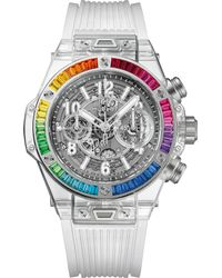 Longines Metallic 411.jx.4803.rt.4099 Big Bang Unico Sapphire Crystal And 18ct White Gold Chronograph Watch for men