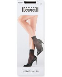 Wolford | Black Individual 10 Ankle Socks | Lyst