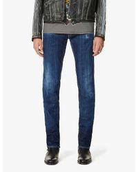 DSquared² Blue Skater Faded Slim Jeans for men