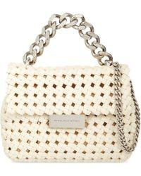 Stella McCartney White Brandy Becks Mini Faux-Leather Shoulder Bag