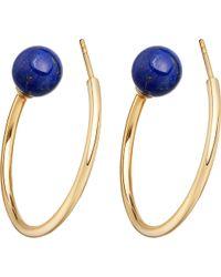 Astley Clarke - Metallic Ezra Yellow-gold Vermeil & Lapis Hoop Earrings - Lyst