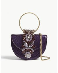 Gedebe Ladies Purple Extravagant Mini Brigitte Python-skin Purse