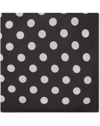 Eton of Sweden Black Polka Dot Silk Pocket Square for men