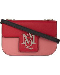 Alexander McQueen Red Tri-colour Leather Cross-body Bag
