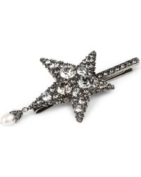 Alexander McQueen - Metallic Star-shaped Swarovski And Pearl Hairclip - Lyst