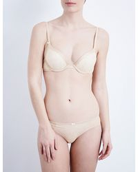 DKNY   Natural Super Sleeks Mesh And Lace Push-up Bra   Lyst