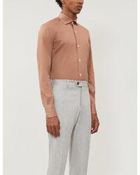 Eleventy Multicolor Regular-fit Cotton-piqué Shirt for men