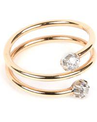 Annina Vogel Metallic 9 Carat Gold And Diamond Toi Et Moi Ring