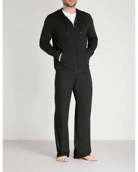Derek Rose Black Basel Jersey Hoody for men