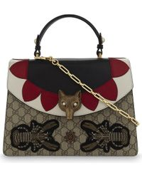 Gucci | Multicolor Broche Gg Supreme Top Handle Bag | Lyst