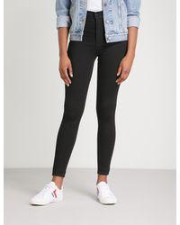 Levi's Black Mile High Super-skinny Extra High-rise Jeans