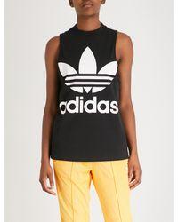 Adidas Originals Black Trefoil Tank Top
