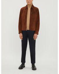 Ralph Lauren Purple Label Multicolor Richland Suede And Wool-blend Jacket for men