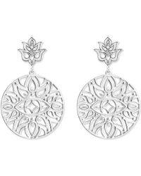 Thomas Sabo - Metallic Mandala Sterling Silver And Diamond Drop Earrings - Lyst