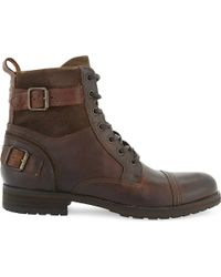 ALDO Brown Gerrade Leather Ankle Boot for men