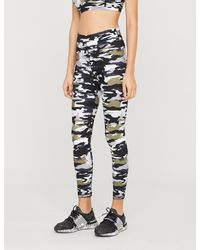 The Upside Black Cami Camouflage-print Stretch-jersey leggings