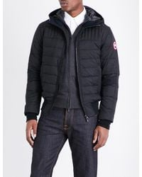 Canada Goose Black Cabri Hooded Shell Jacket for men