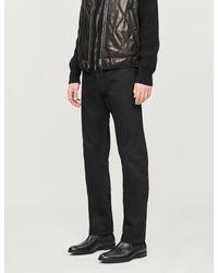 Tom Ford Black Selvedge Whiskered Skinny Jeans for men