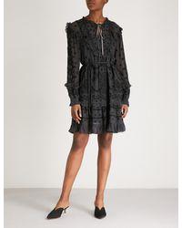 Needle & Thread Black Jazz Embroidered Chiffon Dress
