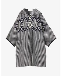 Chloé Multicolor Logo And Geometric-print Wool- And Cashmere-blend Coat