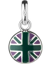 Links of London - Green Wimbledon Round Union Jack Sterling-silver Charm - Lyst