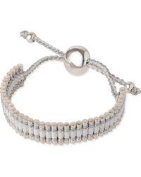 Links of London - Metallic Friendship Bracelet Pewter And White - Lyst