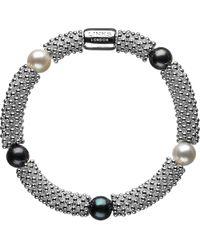 Links of London   Metallic Effervescence Star Sterling Silver Pearl Bracelet   Lyst