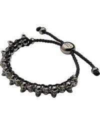 Links of London | Black Skull Sterling Silver Friendship Bracelet | Lyst