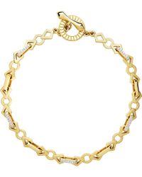 Links of London - Metallic Timeless Gold 18ct Yellow-gold And Diamond Bracelet - Lyst