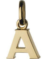 Links of London | Metallic Alphabet A 18ct Yellow-gold Charm | Lyst