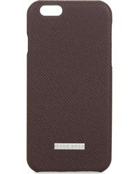BOSS - Brown Textured Leather Iphone 6/6s Case - Lyst