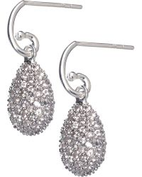 Links of London - Hope Egg White Topaz Earrings - Lyst