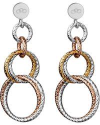 Links of London | Metallic Aurora Double Link Earrings | Lyst