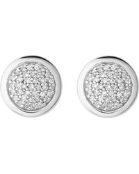 Links of London | Metallic Diamond Essentials Sterling Silver And Diamond Stud Earrings | Lyst