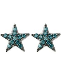 Links of London - Metallic Diamond Essentials Sterling Silver And Diamond Star Earrings - Lyst