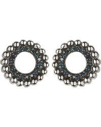 Links of London - Metallic Effervescence Sterling Silver And Blue Diamond Stud Earrings - Lyst