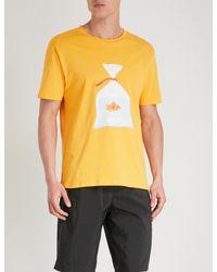 Moschino Metallic Fish Bag Cotton-jersey T-shirt for men
