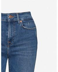 7 For All Mankind Blue Lisha Flared High-rise Stretch-denim Jeans