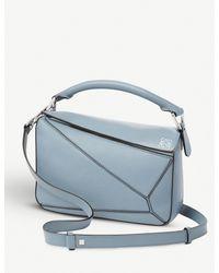 Loewe Blue Puzzle Multi-function Leather Bag